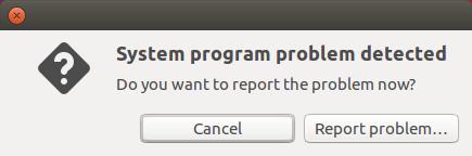 system program problem detected